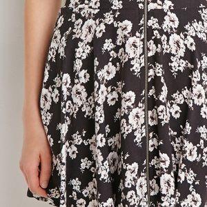 Forever 21 Black Floral Mini Skirt